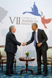 Raúl Castro y Barack Obama 3