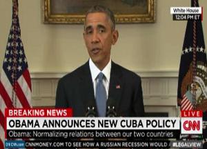 Obama anuncia restablecimiento de relaciones con Cuba